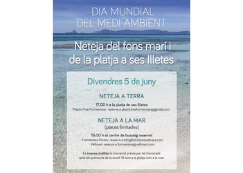 Underwater and coastal cleanup at Ses Illetes