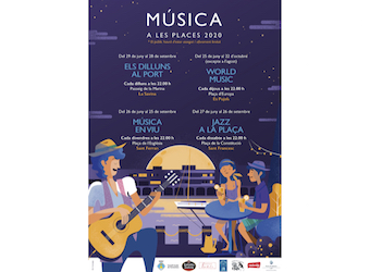 cartell 2020 musica a les places